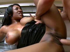 Huge boobs black mature Sincerre Lemore pussy fucked deep