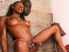 Huge cock black tranny Natalia Coxxx