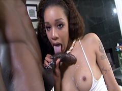 Lexi Moore gets fresh jizz on a sweet tits