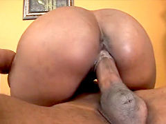 The always popular black pornstar, Nyomi Banxxx bends over in front of her boyfriend, who feels..