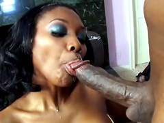 Nyomi Banxxx gets mad when taking dick in her mouth, she loves big cocks and also loves to swallow..