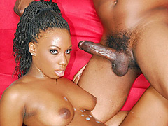 Pretty black girl sells her pussy for a nasty doggy fucking